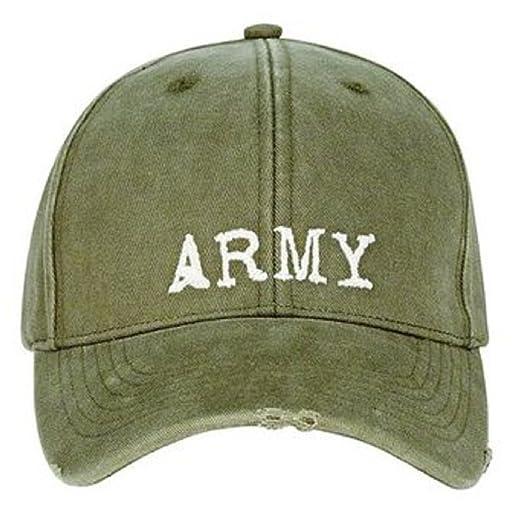 Amazon.com  9486 Olive Drab Vintage Army Baseball cap  Military ... 19f8c97198