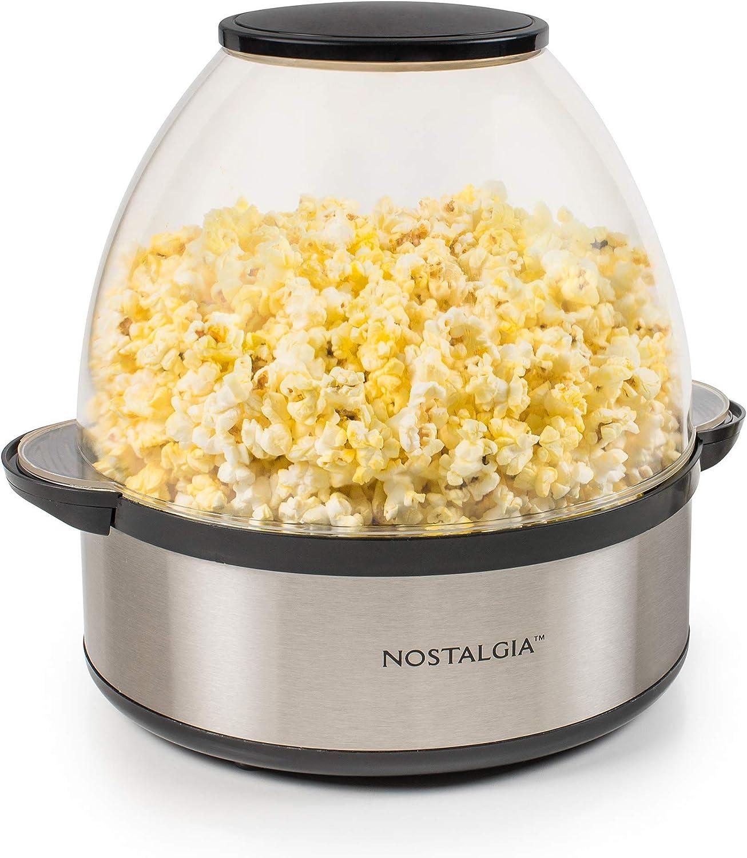 Nostalgia SP660SS 6-Quart Stainless Steel Stirring Speed Popcorn Popper (Renewed)