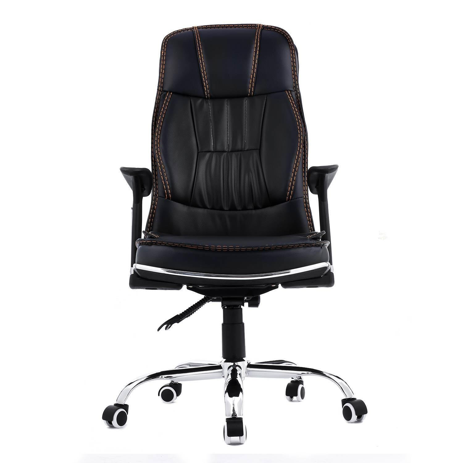 Kaluo Rolling Executive Chair Ergonomic High Back PU Leather Office Chair Adjustable Task Chair Swivel Computer Desk Stool