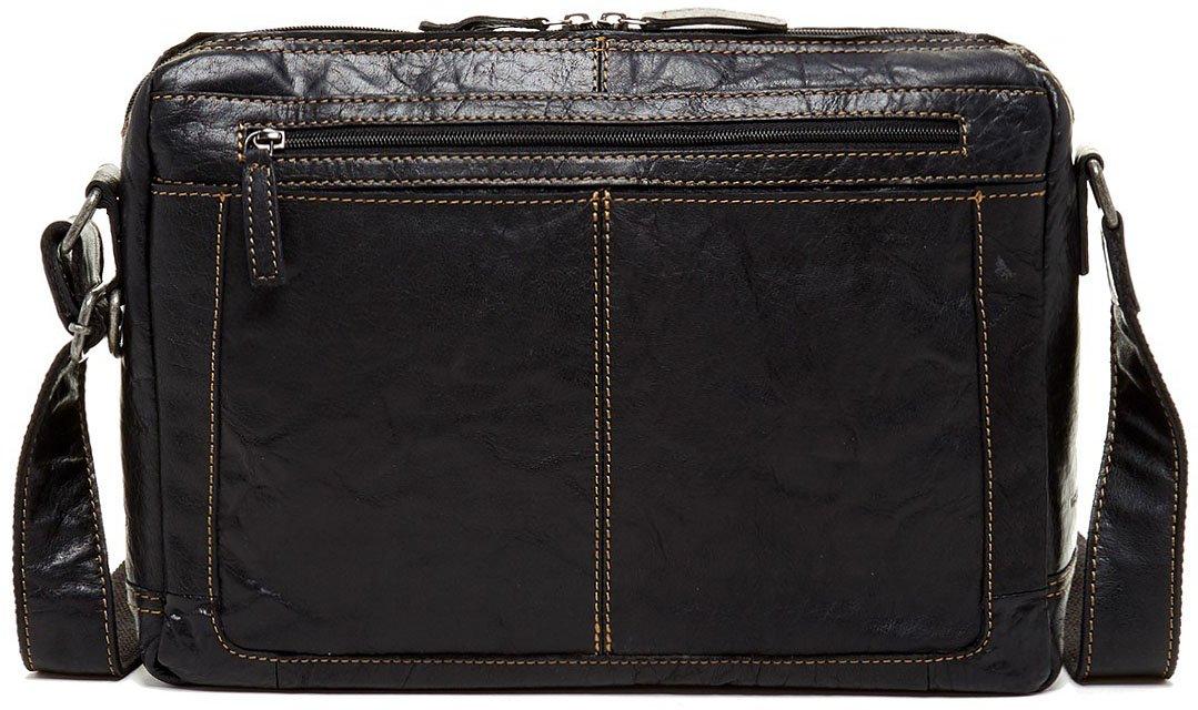 Jack Georges Mens Voyager Lite Messenger Bag in Black