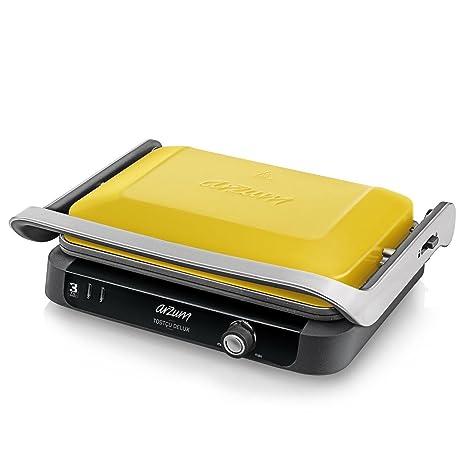 Arzum Edelstahl Toaster Toast-maschine Kontaktgrill Sandwichmaker 1800W Silber