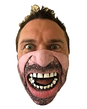 Funny Half Angry Face Mask  7ab820041877