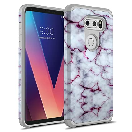 Amazon.com: Funda para LG V30, LG V30 Plus, Rosebono híbrida ...