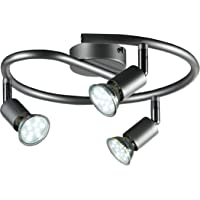 B.K.Licht - Lámpara de techo con 3 focos LED GU10, focos ajustables y giratorios para…