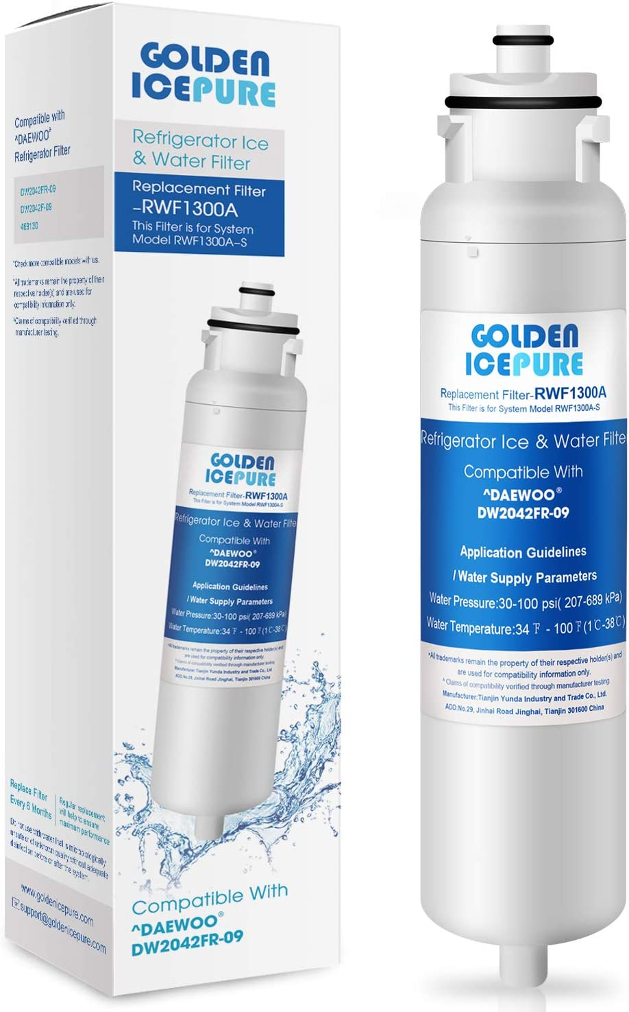 IcePure RWF1300A Refrigerator Water Filter Replacement for Kenmore 46-9130