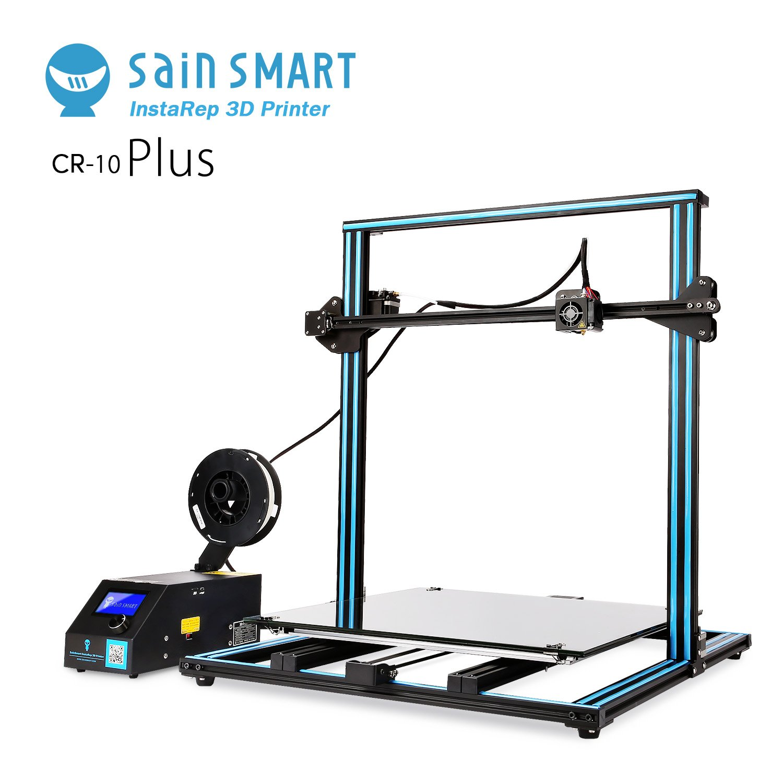 "SainSmart x Creality ""CR-10 Plus"" Semi-Assembled 3D Printer, Dual-Z Motors, Massive Print Size 19.68'' x 19.68'' x 19.68''"