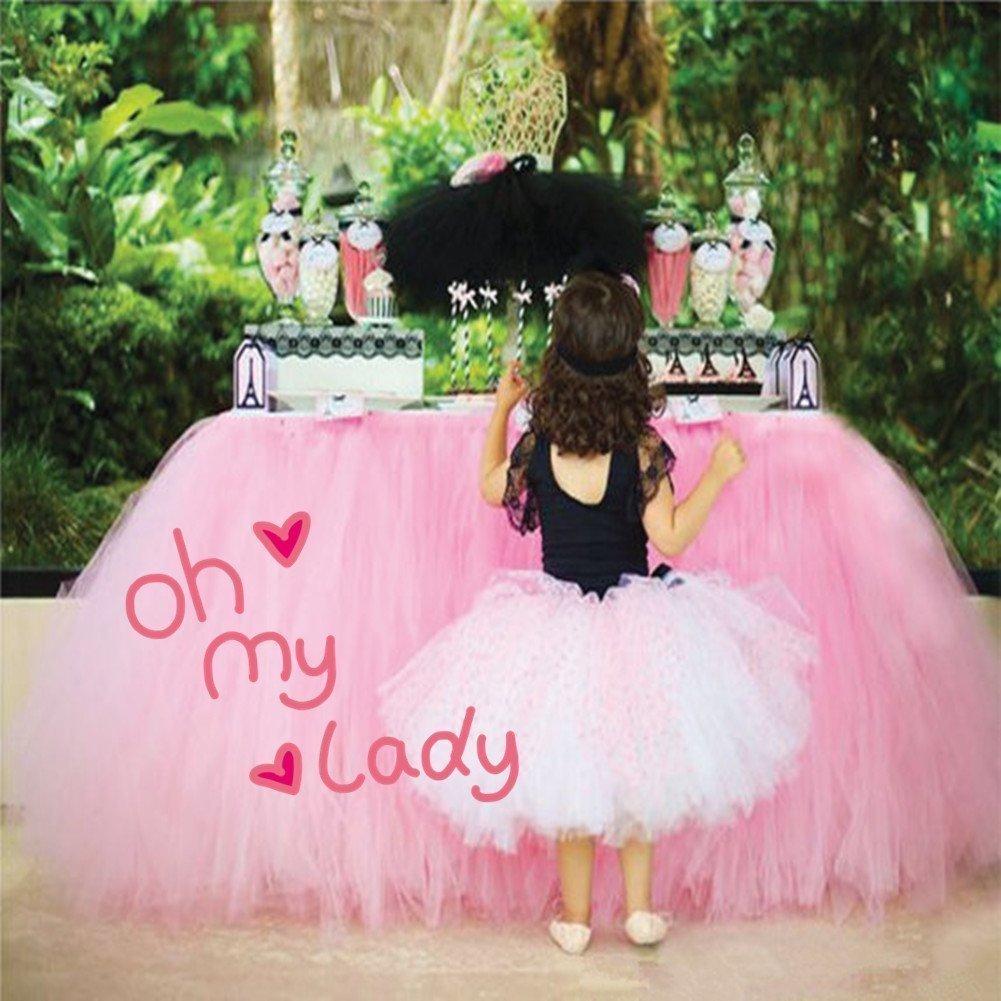 36in × 31in azul cielo Tulle tutu tabla falda, mesa de gasa fiesta de bienvenida al bebé princesa cumpleaños de la boda de San Valentín decoración favor de fiesta por COUTURE COUTUDI