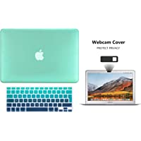 Protector Funda Case para Macbook + Protector Skin Cover de Teclado en Español + Webcam Cover AntiSpy Verde Degradado Macbook Air 11'' Model: A1370 / A1465