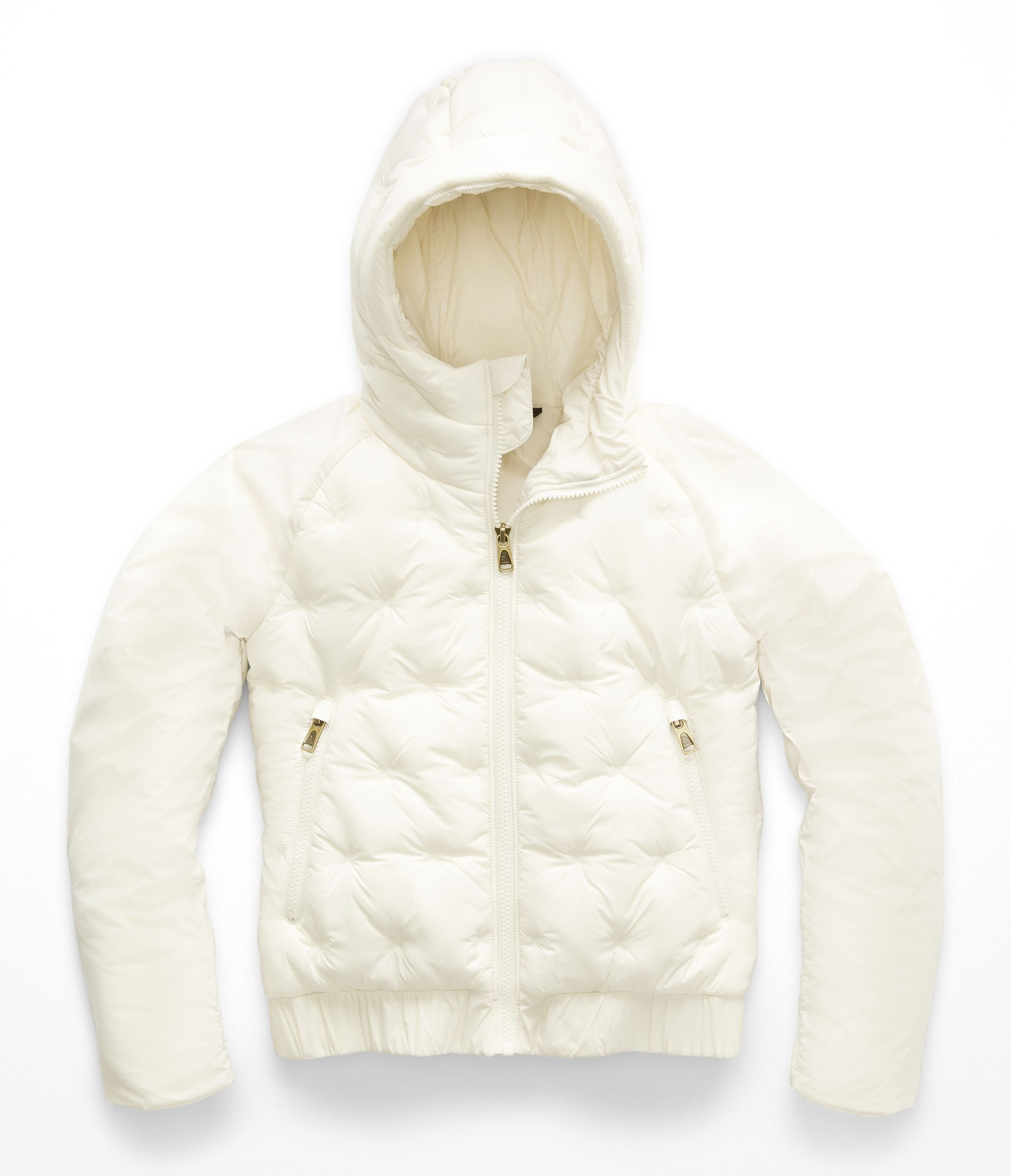 The North Face Girl's Mashup Full Zip Hoodie - Vintage White - L