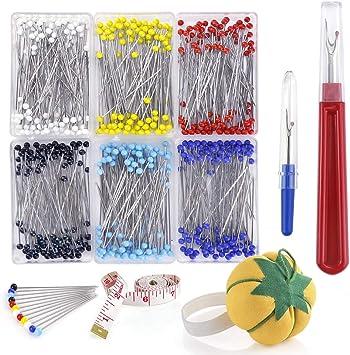 40 COLOURED TIP DRESS PINS ARTS AND CRAFTS SEWING DRESSMAKER