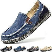 Zapatos de Lona a la Moda para Hombre, Mocasines, Zapatos Planos Informales, Zapatos de Guisantes, Zapatos de conducción…