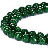 BRCbeads 华丽天然宝石面圆散珠 变体颜色和材质用于珠宝制作 Sky Blue Stripe Agate 8mm