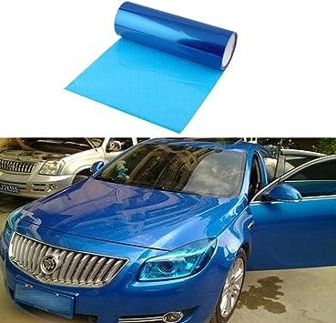 Smkj Scheinwerfer Folie Tönungsfolie Aufkleber Für Auto Scheinwerfer Rückleuchten Blinker Nebelscheinwerfer Gr 200cm X 30cm Blau Auto