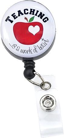 Nurse badge clip Teacher badge clip ID holder. Wizard collection set of 4 badge clips Badge clip retractable