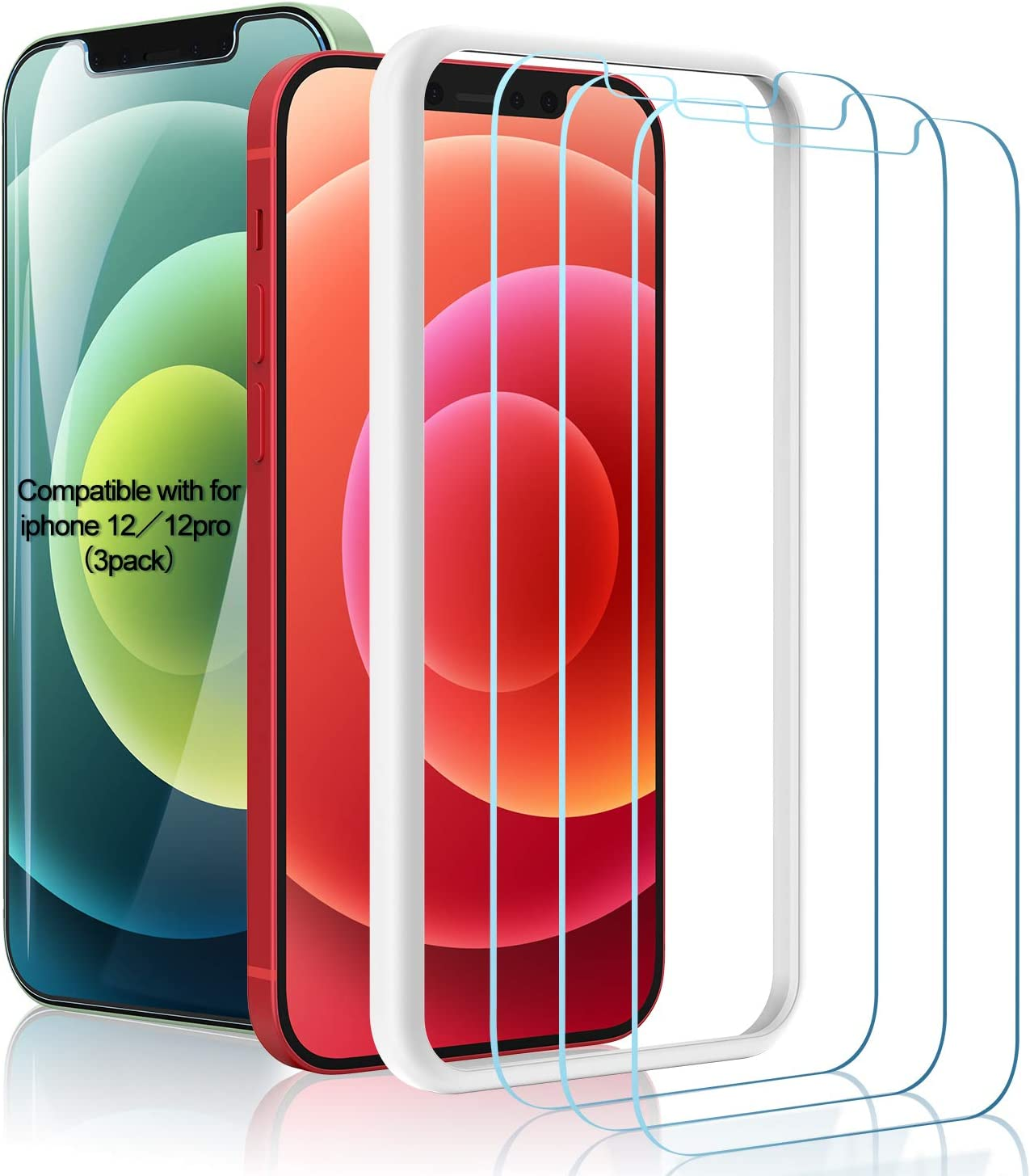 Amuoc 3 Pack Tempered Glass Screen Protector $5.93 Coupon