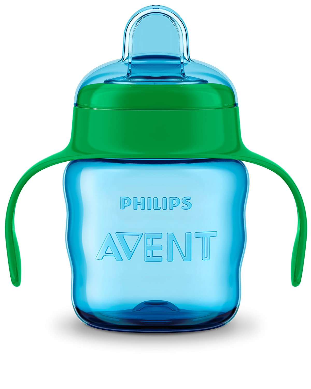 Philips Avent Easy Sip Spout Cup with Handle, 200 ml - Blue/Green - SCF551/15