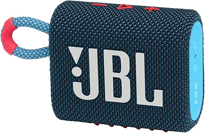 Jbl Go 3 Kleine Bluetooth Box In Blau Und Pink Wasserfester Tragbarer Lautsprecher Für Unterwegs Bis Zu 5h Wiedergabezeit Mit Nur Einer Akkuladung Audio Hifi