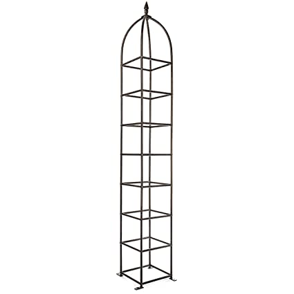 Amazon.com : H Potter Trellis Obelisk For Climbing Garden Plants Weather  Resistant Iron And Metal Vertical Yard Art GAR470 : Trellises : Garden U0026  Outdoor
