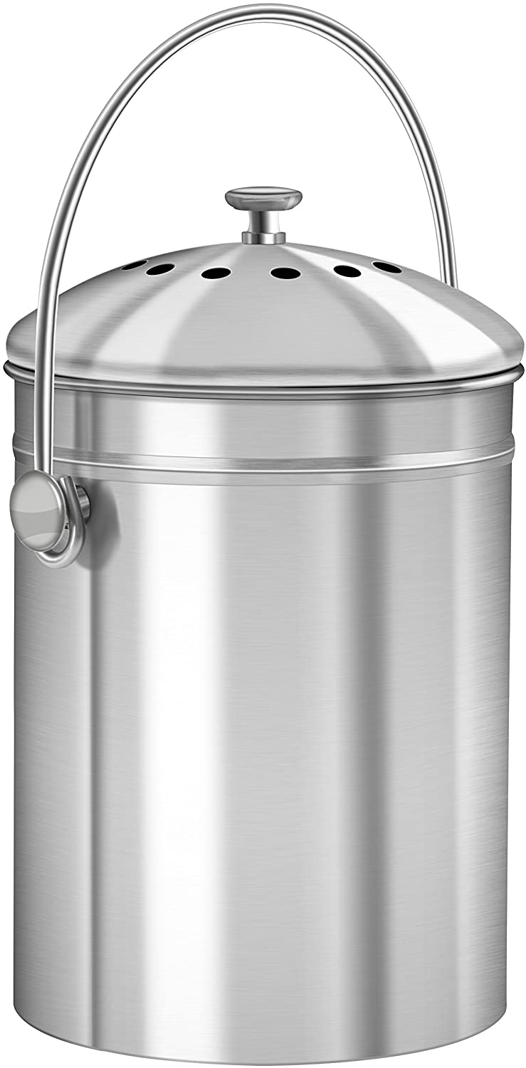 1 3 Gallon Stainless Steel Compost Bin With Lid By Utopia
