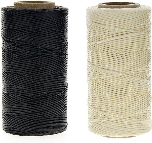 JuanYa - Cuerda de hilo encerada de 150 denieres para coser cuero ...
