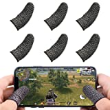 Mobile Gaming Controller Finger Sleeve Sets,Ultra-Thin Anti-Sweat Breathable Soft Touch Screen Thumb Sleeve Sensitive for PUBG Mobile/Knives Out/Rules of Survival,for iPhone/iPad/Android Accessories