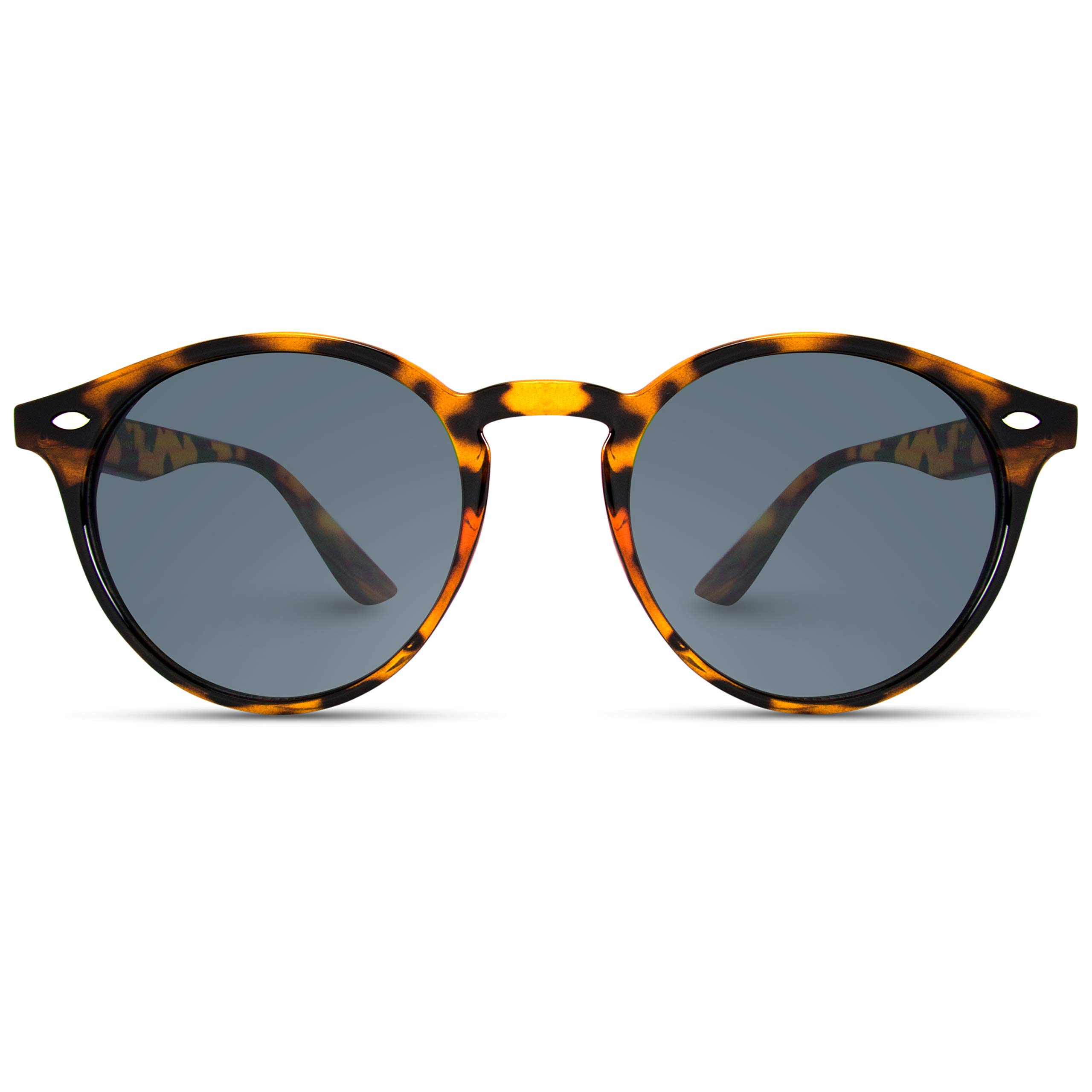 WearMe Pro Classic Small Round Retro Sunglasses, Tortoise Frame/Black Lens by WearMe Pro