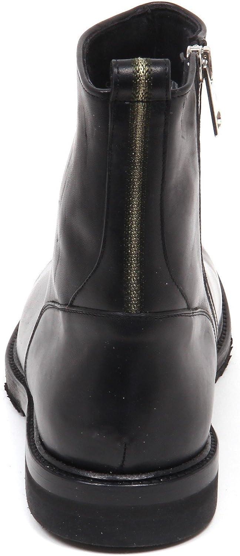 SARTORI GOLD E4758 Stivaletto Uomo Black Scarpe Vintage Effect Boot Shoe Man Nero