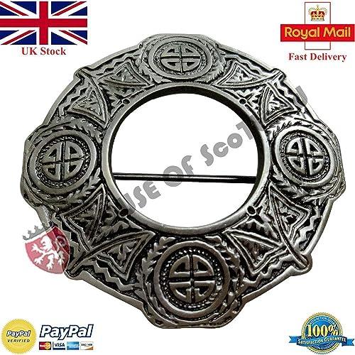 Scottish Serpent Kilt Pin Antique Finish Celtic Serpents Fly Plaid Pins /& Brooch