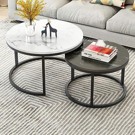 Table Basse Ronde Empilable En Fer Forge Accueil Mini Table De Bout Gigogne De Salon