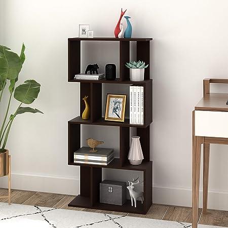 DEVAISE 4-Shelf Modern Bookcase, Organizer Storage Bookshelf for Home Office, Living Room