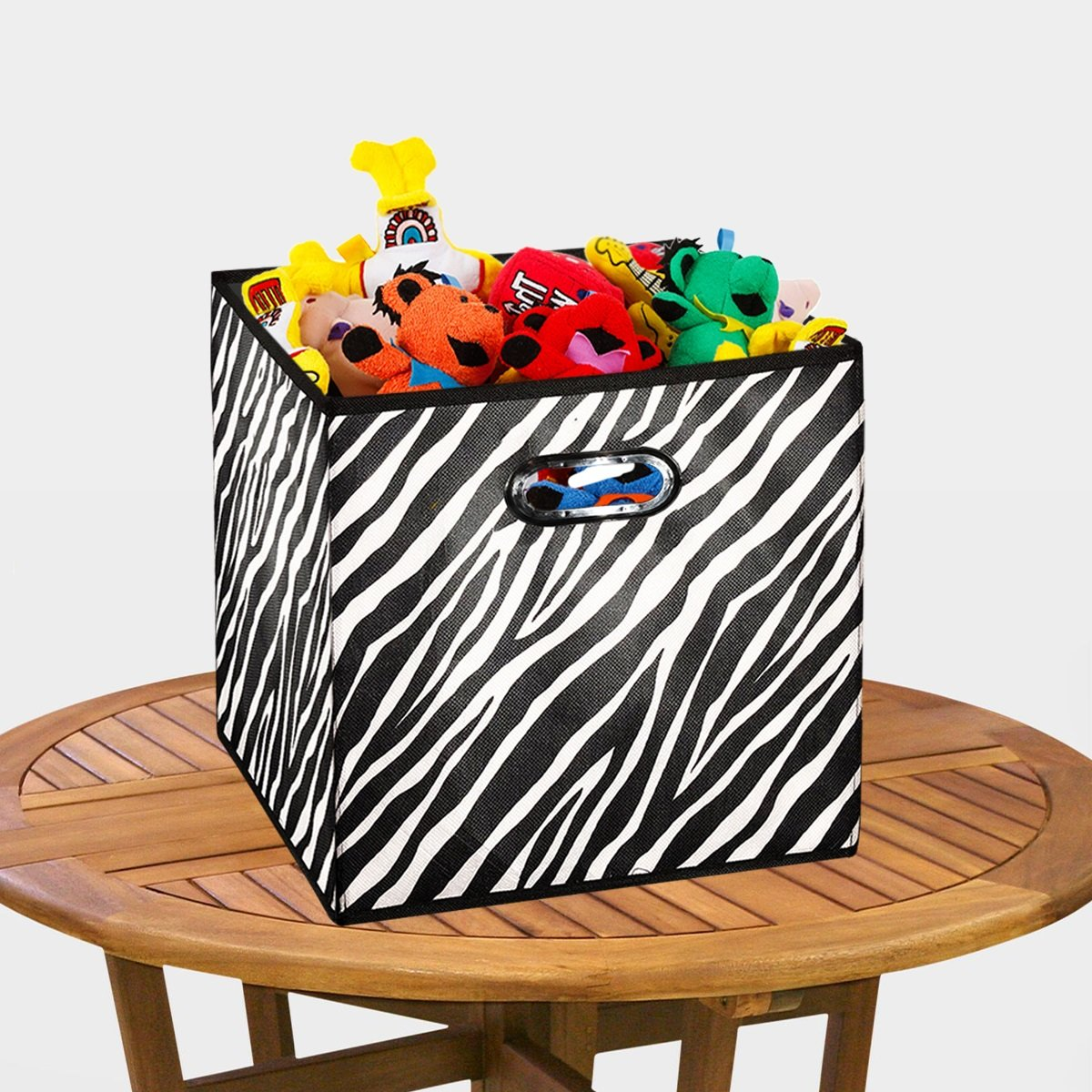 Merveilleux [10 Pack Zebra Pattern] Large Storage Bins, Containers, Boxes, Tote,  Baskets  Collapsible Storage Cubes For Household Offices Organization   Nursery Cubes  ...