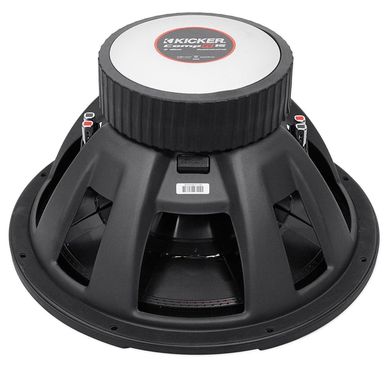Kicker 43cwr152 Compr15 15 1600 Watt Car Subwoofer Cvr 12 Wiring Sealed Sub Box Enclosure Electronics