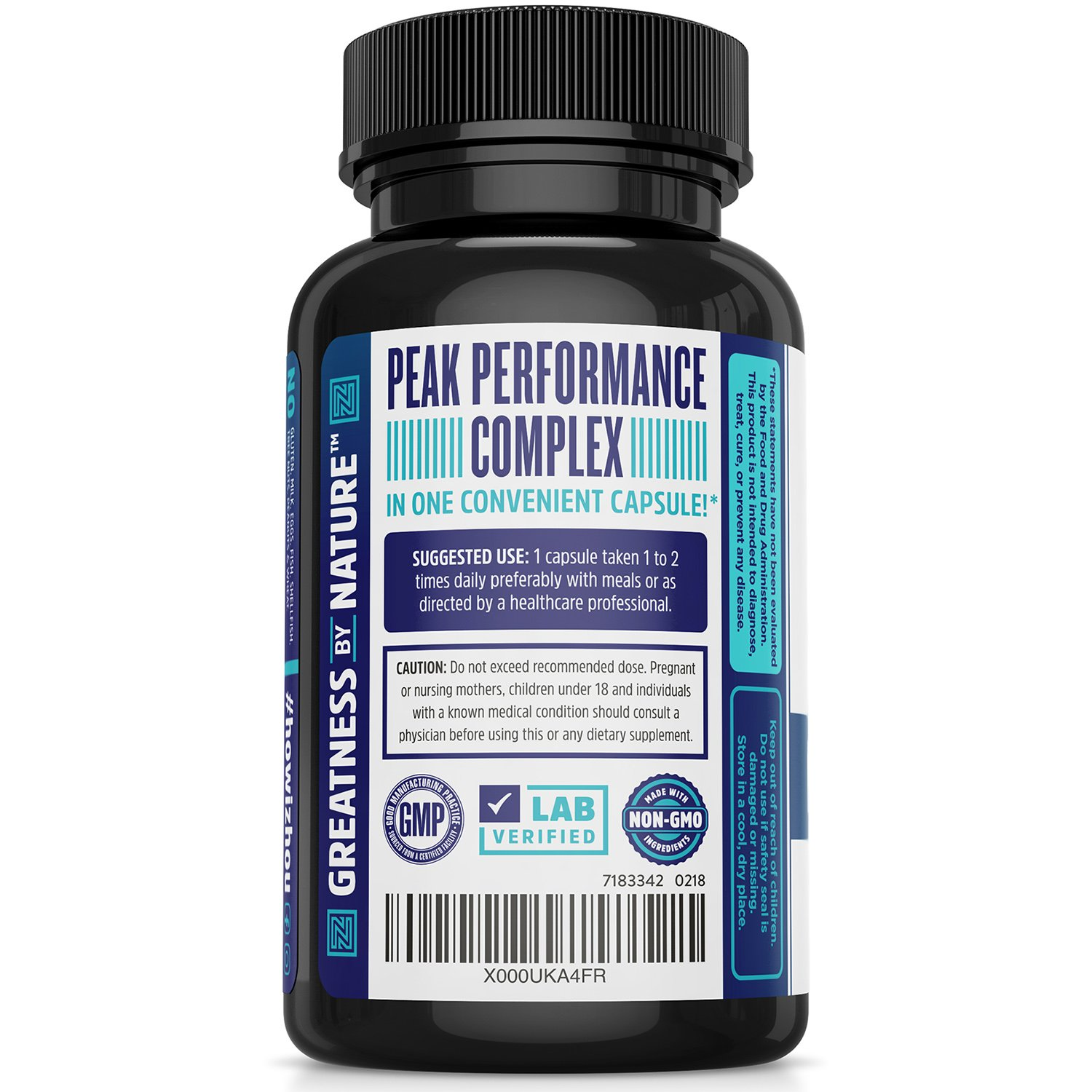 Neuro-Peak Brain Support Supplement, Nootropic Formulated for Memory, Focus, Clarity, 30 Capsules by Zhou Nutrition (Image #2)
