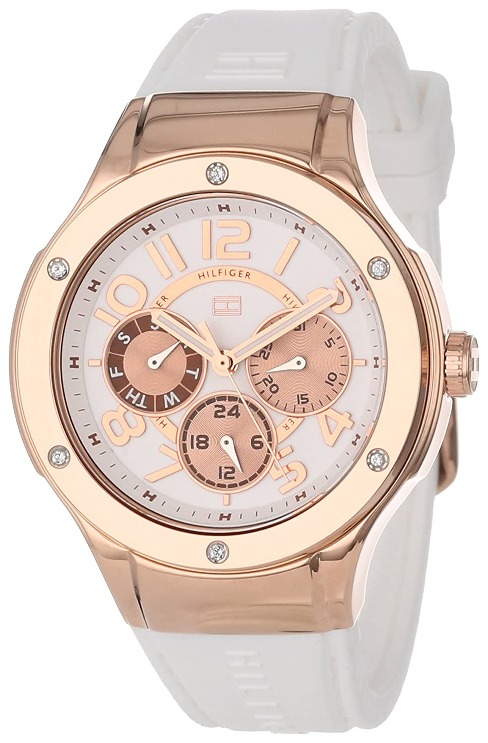 cf2d8d72 Amazon.com: Tommy Hilfiger Women's 1781311 Sport Lux Multi-Eye Crystals on  Bezel Watch: Tommy Hilfiger: Watches