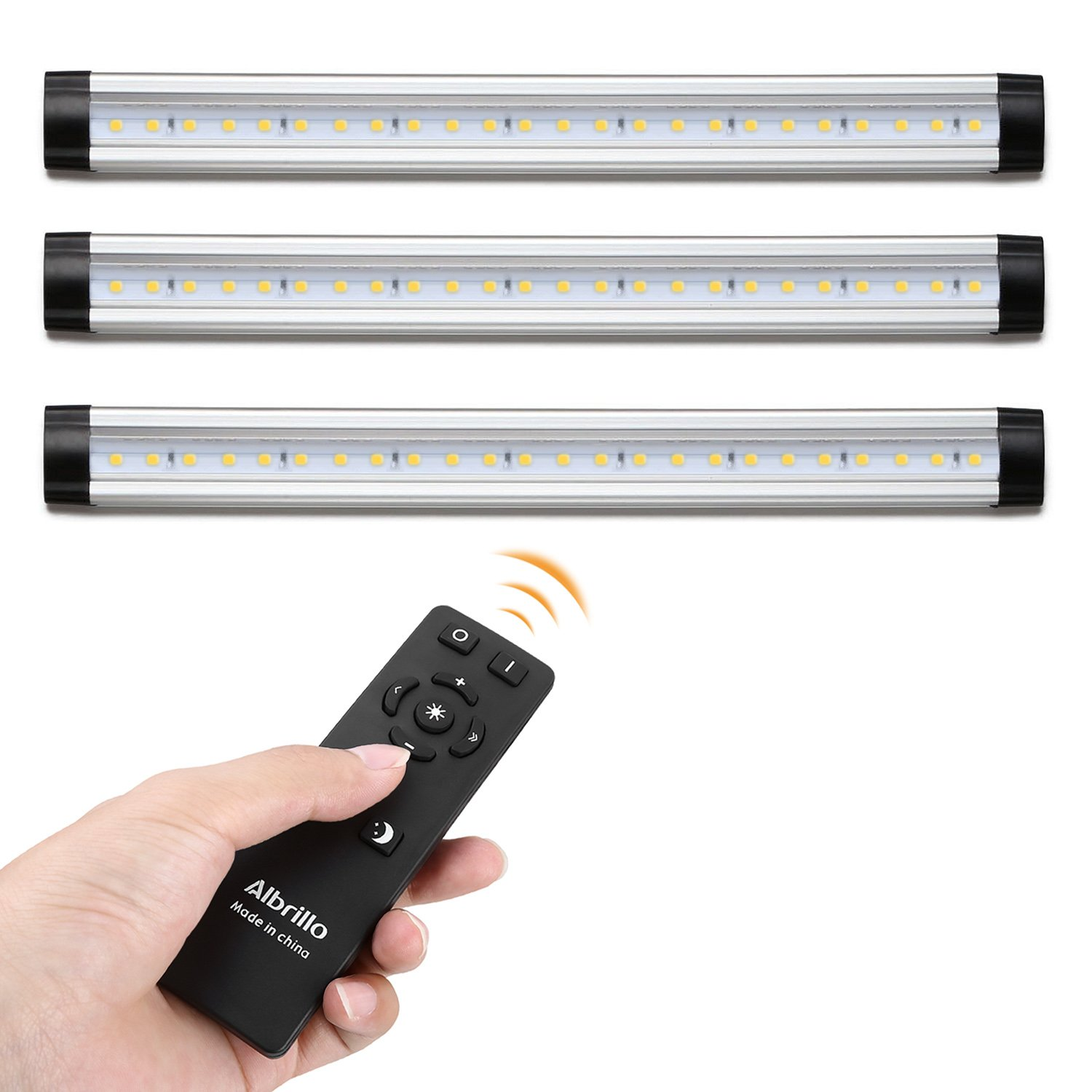 the best attitude b0478 d071a Details about Albrillo Remote Control LED Under Cabinet Lighting, Dimmable  Warm White 3000K,