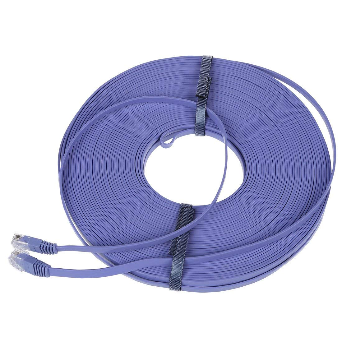 Gimax Best price 98FT 30M CAT6 CAT 6 Flat UTP Ethernet Network Cable RJ45 Patch LAN Cord Blue