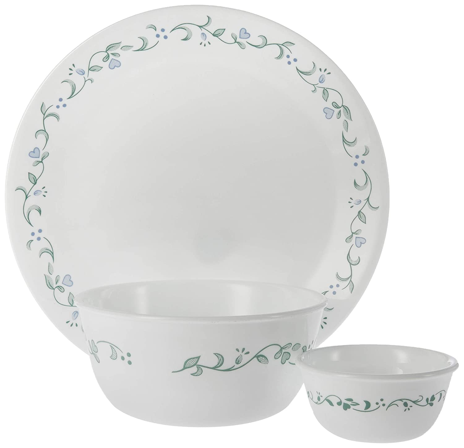Corell 6018487 CCG 8.5 Inch Livingware Country Cottage Luncheon Plate CORELLE