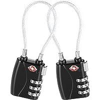 Candado para maletas Negro aprobado por la TSA (2 piezas) / Set de dos candados para maletas/ crea tu propia combinación, perfecto para lockers del gimnasio, escuelas, maletines, equipaje, caja de herramientas y más!
