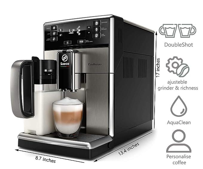 Saeco - Cafetera (Independiente, Máquina espresso, 1,8 L, Granos de café, De café molido, Molinillo integrado, Acero inoxidable): Amazon.es: Hogar