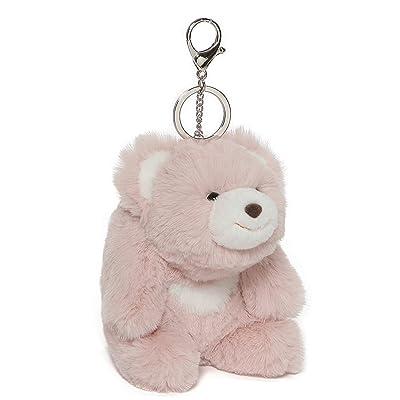 """GUND Snuffles Teddy Bear Stuffed Plush Keychain, Rose Pink, 5"""": Toys & Games"""