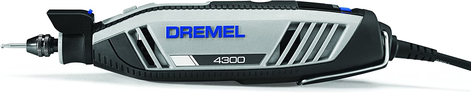 Dremel 4300-9 64 Rotary Tool Kit with Flex Shaft- 9 Attachments 64 Accessories- Engraver, Router, Sander, and Polisher- Perfect for Grinding, Cutting, Wood Carving, Sanding, Engraving, and Routing