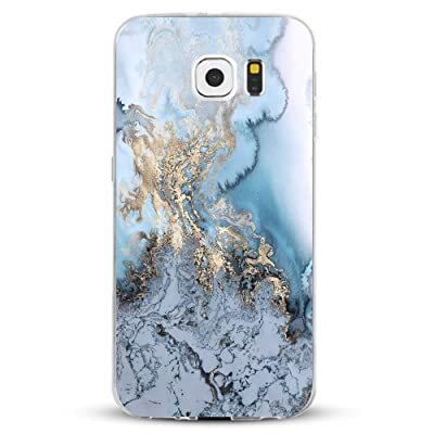 033c1475b3e Funda Galaxy S6/S6 Edge/S6 Edge Plus/S7/S7 Edge Jeper® Carcasa Silicona  Transparent Protector TPU Ultra-delgado Anti-Arañazos Mármol Case Teléfono  Galaxy ...