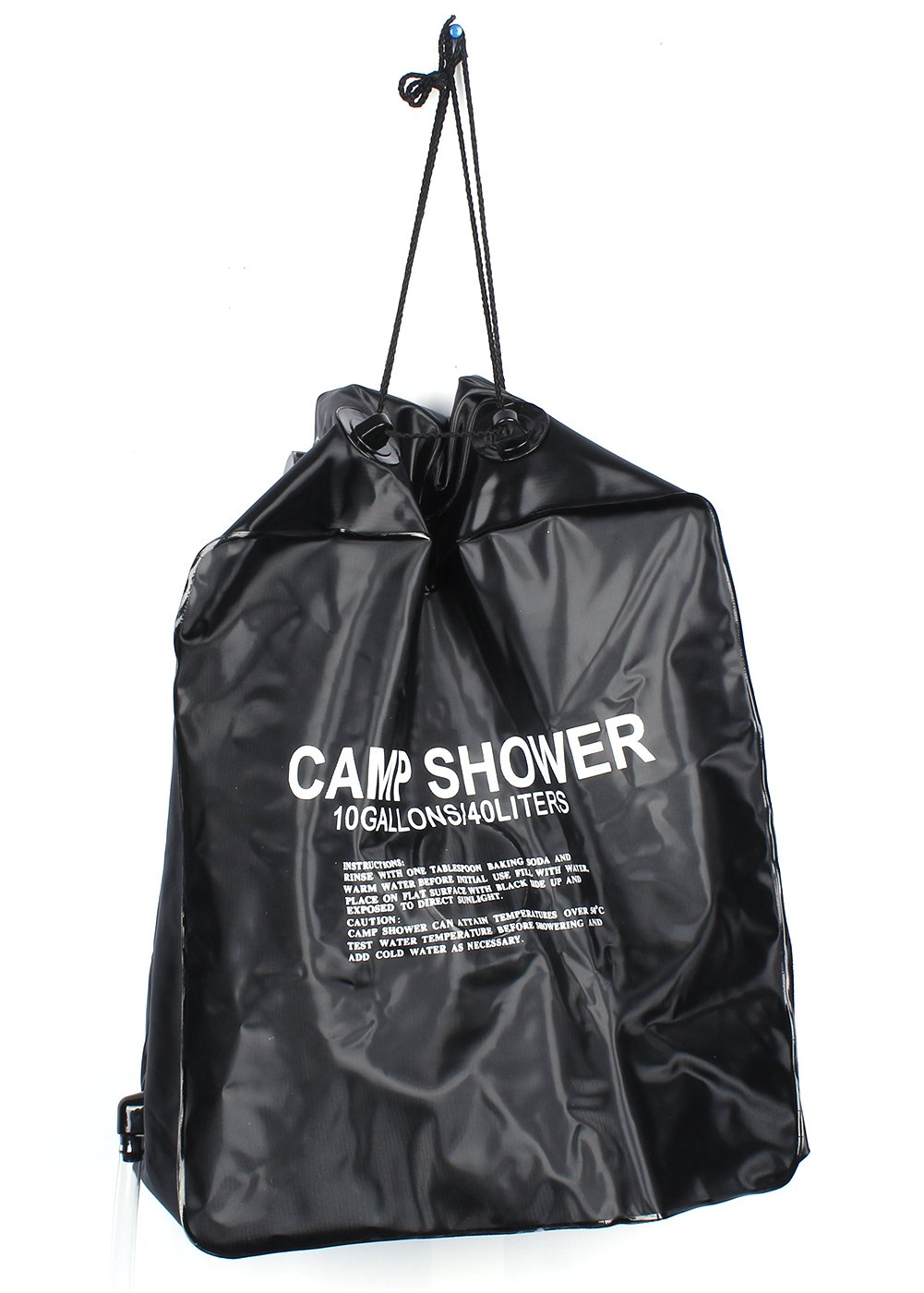 Candora 40L/10 gallon Camping bolsa de ducha calefacción solar senderismo campamento al aire libre climatizada solar portátil Pipe bolsa de agua ducha al ...