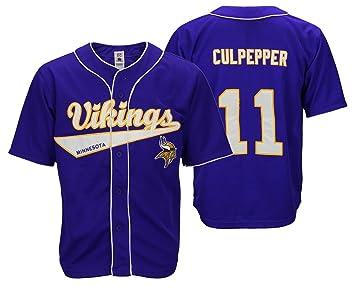 buy online ae522 5898c Minnesota Vikings NFL Retro Baseball Style Jersey Daunte ...
