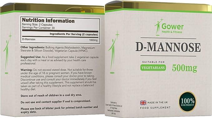 D- Manosa Cápsulas 500mg - 60 cápsulas vegetarianas ...