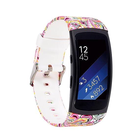 Moretek Replacement Plastic Strap for Samsung Gear Fit2 SM-R360 & Fit2 Pro SM-R365 smartwatch(Painting)