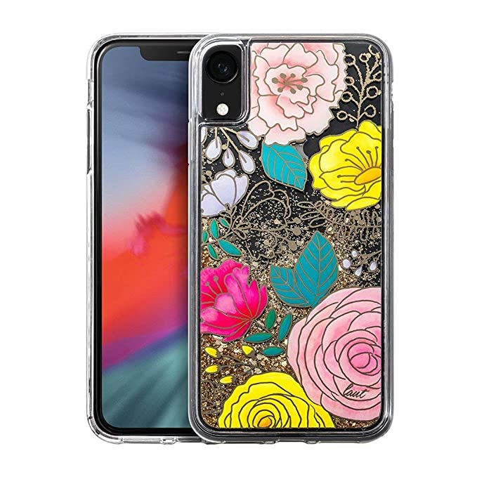 798a39e225 Amazon.com: LAUT - Glitter Floral for iPhone Xs Max | Blooming ...