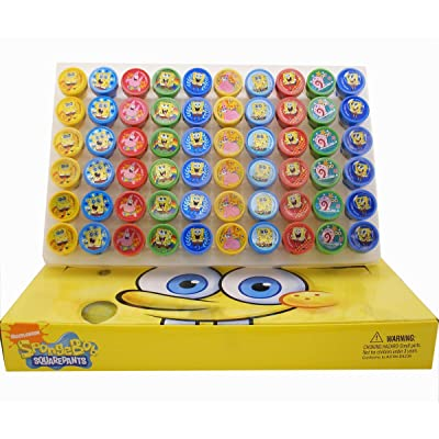 SpongeBob SquarePants Self-Inking Stamps / Stampers Party Favors (10 Counts) by GoodyPlus: Toys & Games