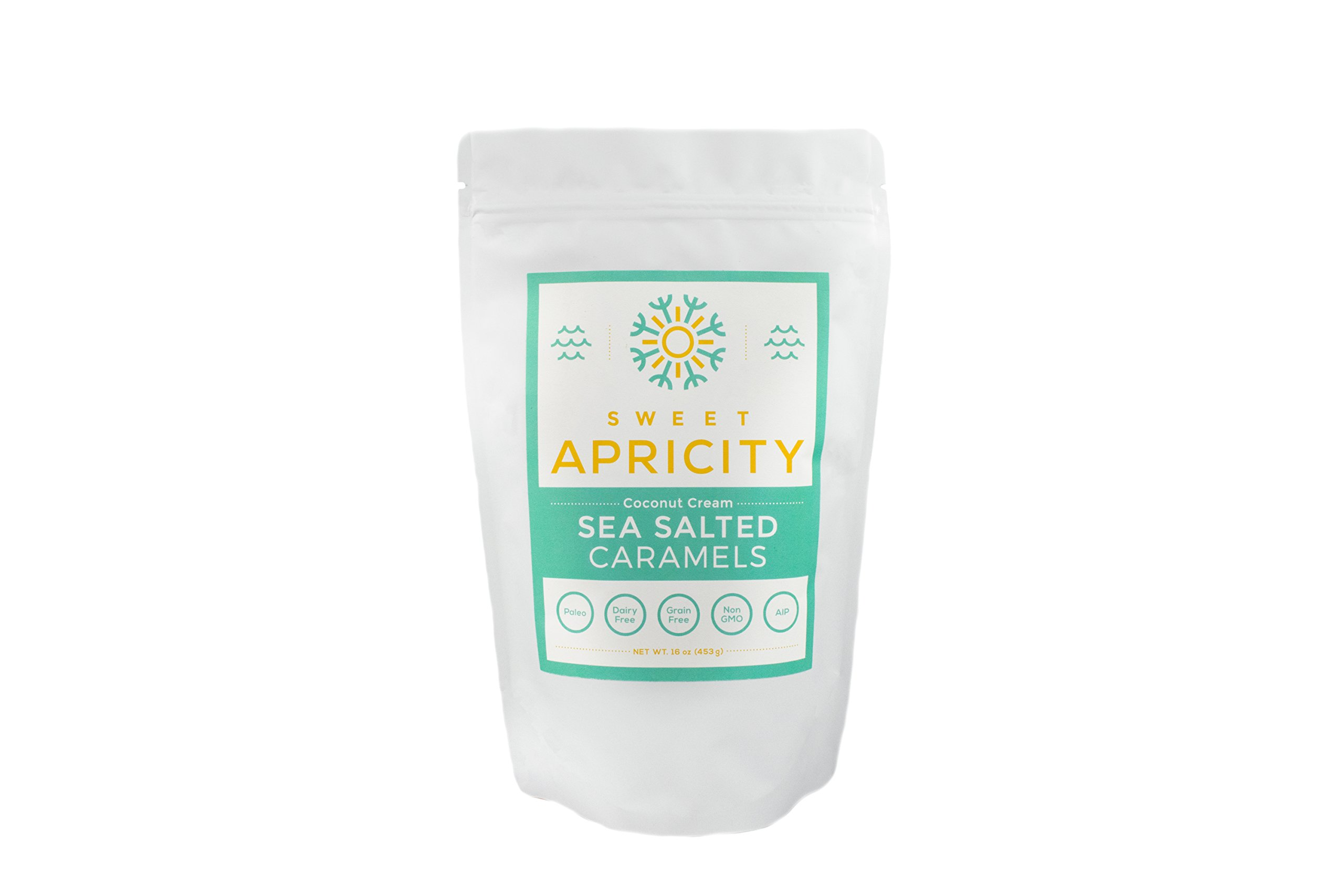 Coconut Cream Sea Salted Caramels, 1 lb (16 oz) by Sweet Apricity