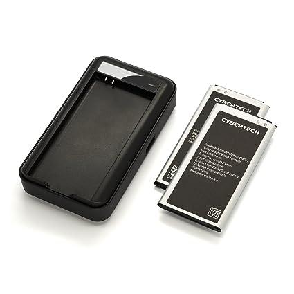 Amazon.com: Galaxy S5 batería Combo, Cybertech 2 x (QTY: 2 ...